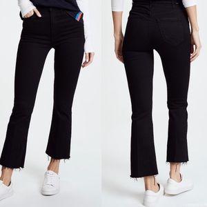 MOTHER Hustler Ankle Fray Black Jeans